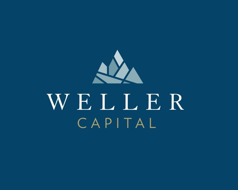 Weller Capital Logo on Blue Background